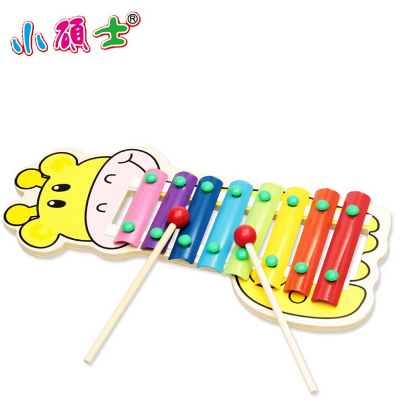 Wooden Xylophone 8-Note Musical Toys Deer Pattern Print Learning Education Music Instrument Children Kid Juguetes 34*15cm(China (Mainland))