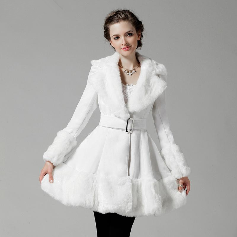 Winter Noble Mink Bridal Wedding Faux Fur Long Shawl Stole Wrap Shrug Scarf. Material: Faux Fur. The Faux Fur Coat Thick, can Easily Keep Warm in Winter.