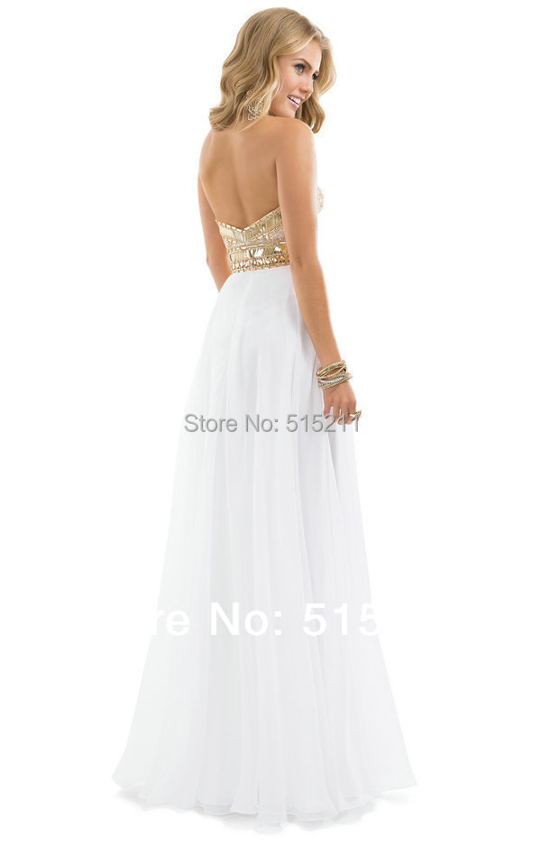 Prom dresses 2014 white and gold