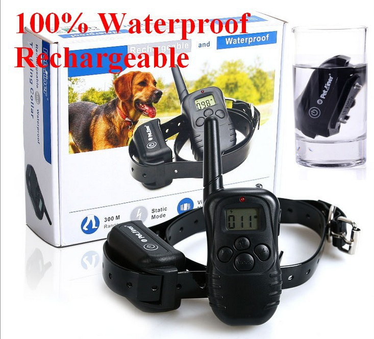 100% Waterproof Rechargeable LCD Electronic Shock Remote Dog Training Collar Electric Pet training collar Pet Trainer(China (Mainland))