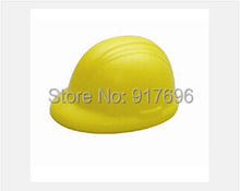New free shipping promotion gift creative product hard hat shape pu stress Relief Stress Ball customed logo(China (Mainland))
