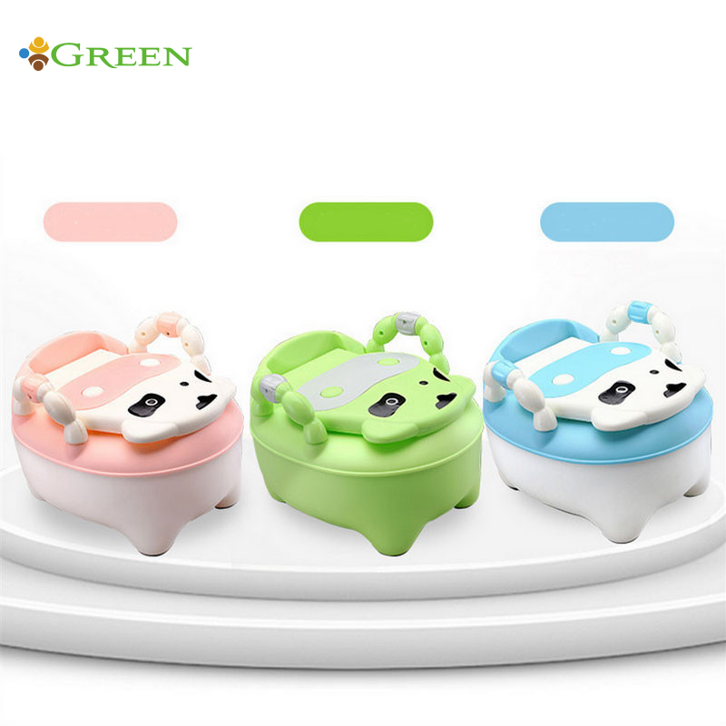 useful 4 colors high quality comfortable soft baby toilet lovely cows drawer potty small infants and young children