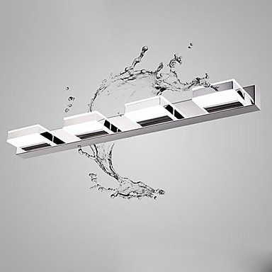 Modern Simple Artistic Led Mirror Bathroom Light ,LED Wall Lamp With 4 Lights Wall Sconces  Free Shipping