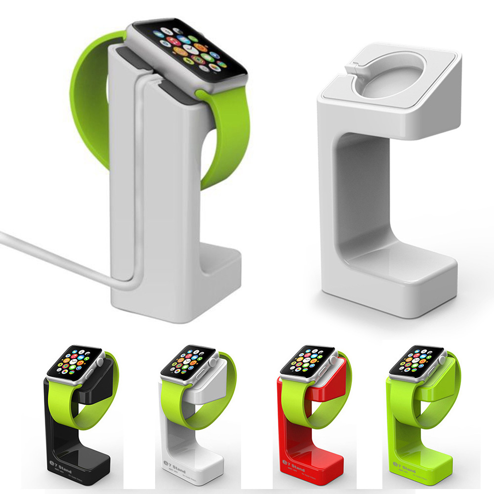 Newest Fashion Design Luxury Desktop Stand Holder Charger Cord Hold E7 Stand Holder For Apple Smart Watch iWatch holder keeper(China (Mainland))