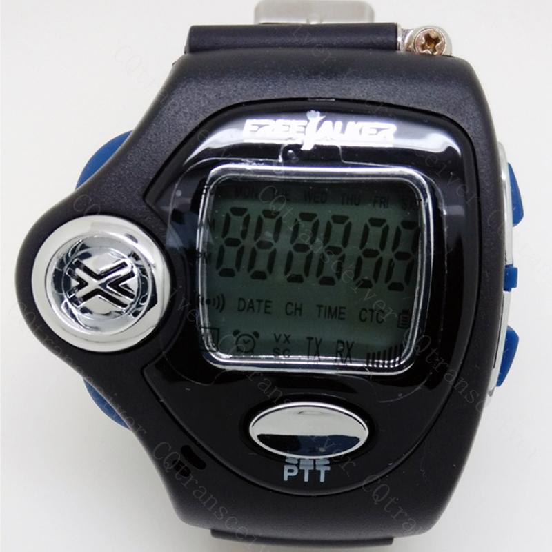 A Pair Small Transceiver Wrist Watch Style Walkie Talkie UHF License Free Radio(China (Mainland))