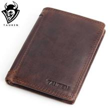 Buy Vintage Designer 100% Genuine Carteiras Masculinas Cowhide Leather Men Short Wallet Purse Card Holder Coin Pocket Male Wallets for $13.90 in AliExpress store