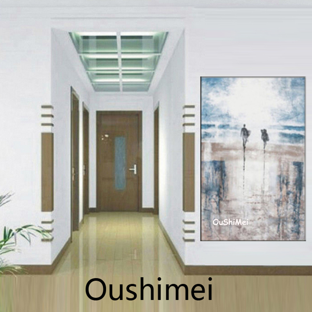 Hand Impression Landscape Oil Painting Hang Picture Modern Wall Paintings On Canvas Surfing Pictures For Decor Painting(China (Mainland))