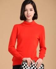 2019 Gugur Musim Dingin Kasmir Sweater Perempuan Pullover Kerah Tinggi Turtleneck Sweater Wanita Warna Solid Wanita Dasar Sweater(China)