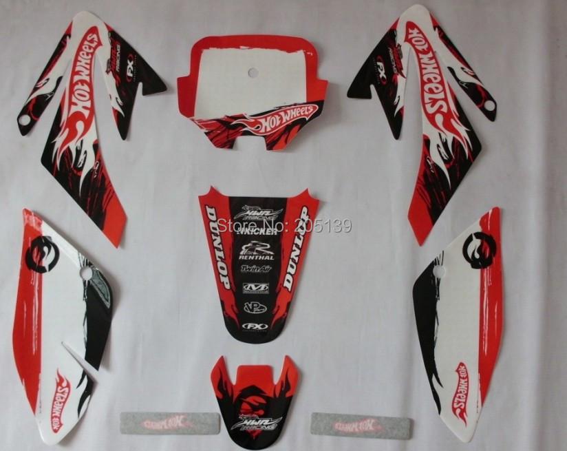RACING MOTO CRF 70 HOTWHEELS 3M graphics KIT decals STICKER for HONDA motorcycle DIRT PIT BIKE PARTS CRF70 -0018(China (Mainland))