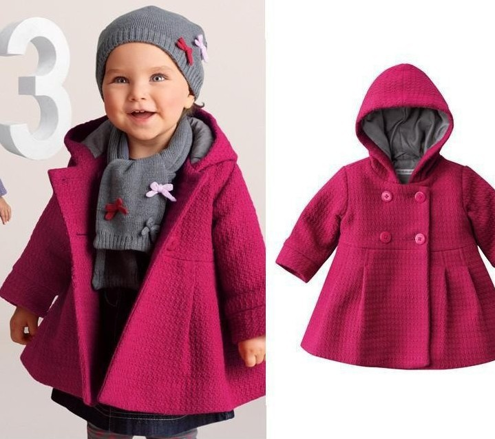 New 2015 Autumn kids jacket Children s cartoon winter coat sleeve fashion baby coat girl s