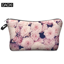 2016 New Fashion 3D Printing Women Makeup Bags With Multicolor Pattern for Traveling easy taking