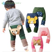 1piece Kids Toddler Boy Girl Baby Leggings PP harem Pants busha Cotton Trousers animal bear cartoon pant for children Infantil(China (Mainland))