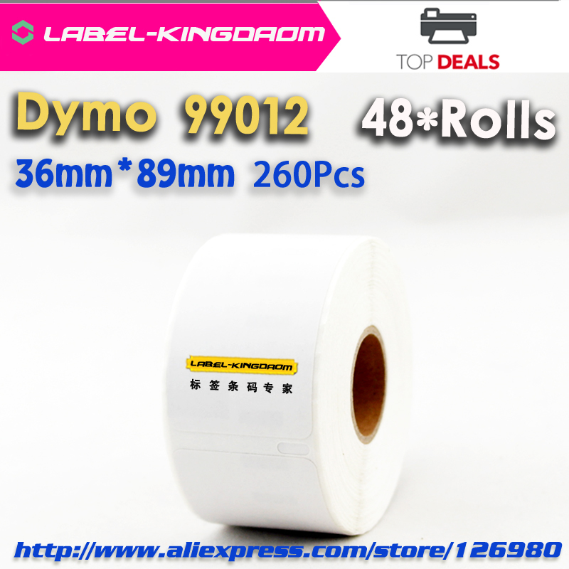 48 X Rolls Generic DYMO LabelWrite 99012 Compatible Label S0722400 36*89mm(China (Mainland))
