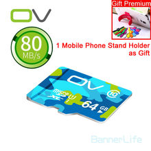 OV Colorful Memory Micro SD Card 64GB Class 10 32GB 16GB TF Carte Microsd Flash Card SDCard for Mobile Phone Smartphone Tablet