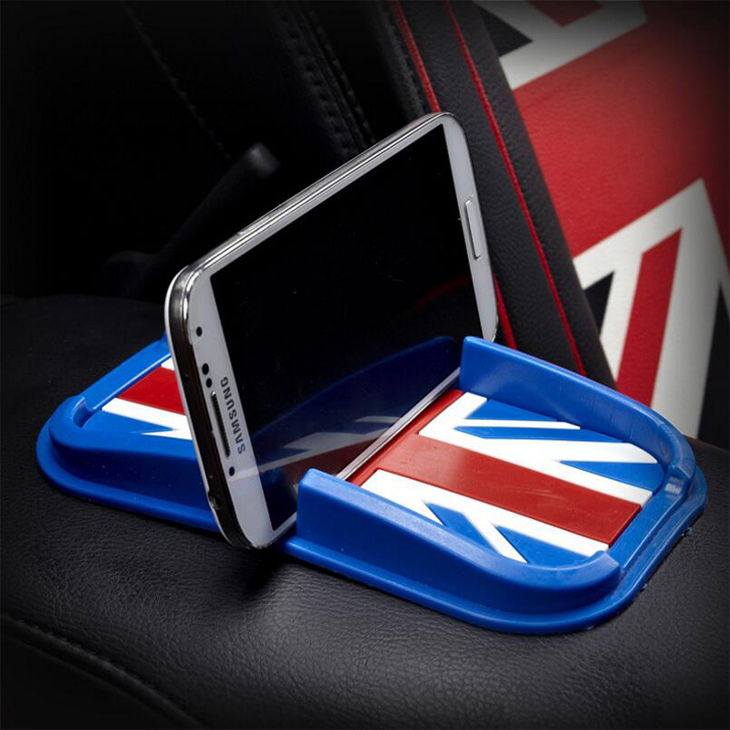 19*13cm Anti slip mat car dashboard sticky silica gel pad red blue for car mobile phone Interior accessories non-slip mat(China (Mainland))