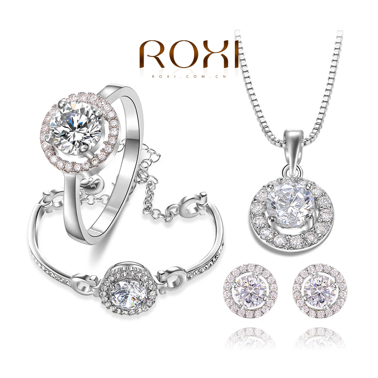 2015 New ROXI fashion new arrival, genuine Austrian crystal,Delicate Gold plated Jewelry Set, Chrismas /Birthday gift<br><br>Aliexpress
