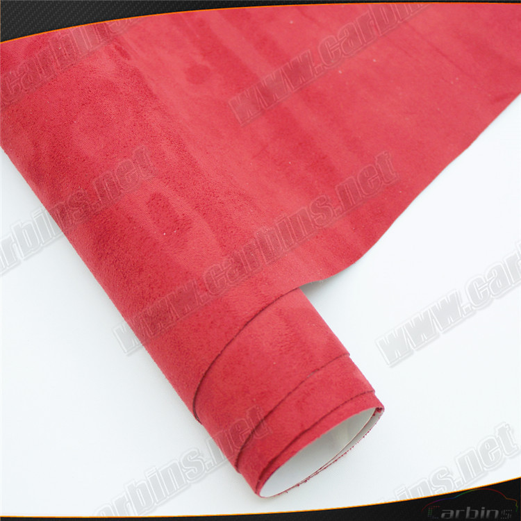 buy red adhesive alcantara velvet fabric suede for car wrap decoration. Black Bedroom Furniture Sets. Home Design Ideas