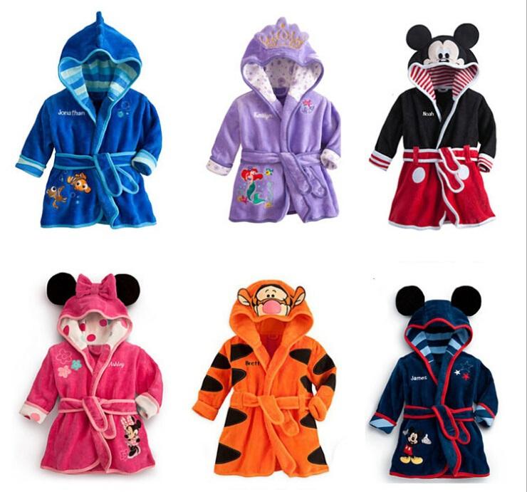 Гаджет  Fashion Cartoon Design Mickey / Boys & Girls hooded thick Robe Children