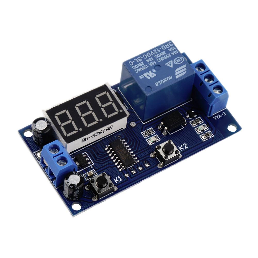 DC 12V Digital Display Trigger Cycle Time Delay Relay Module Board  Ho