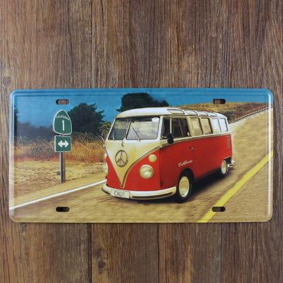 VW ROAD BUS CAR LICENSE PLATE Vintage Tin Sign Bar pub home KITCHEN Wall Decor Retro Metal Art Poster(China (Mainland))