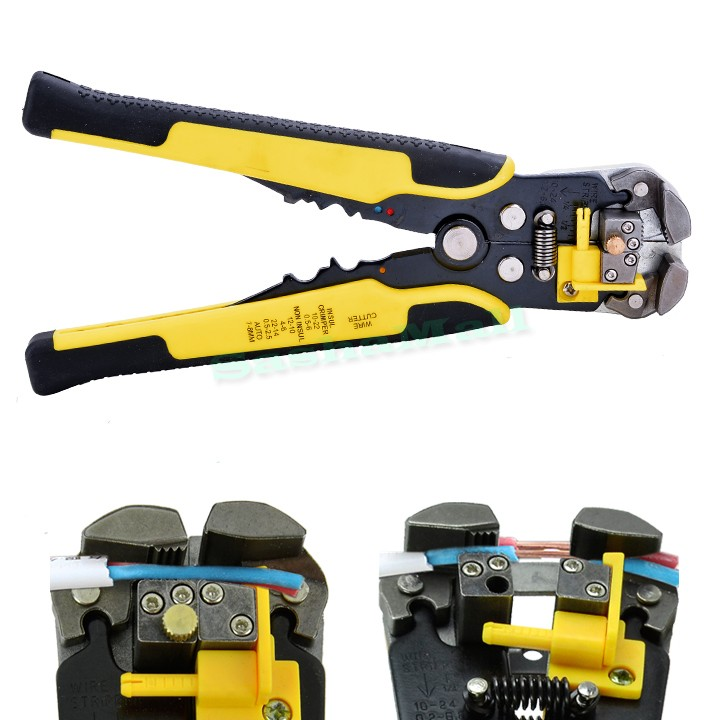 New Multifunctional Automatic Cable Wire Stripper plier Self Adjusting Crimper Terminal Tool Wire Stripping Pliers 25(China (Mainland))