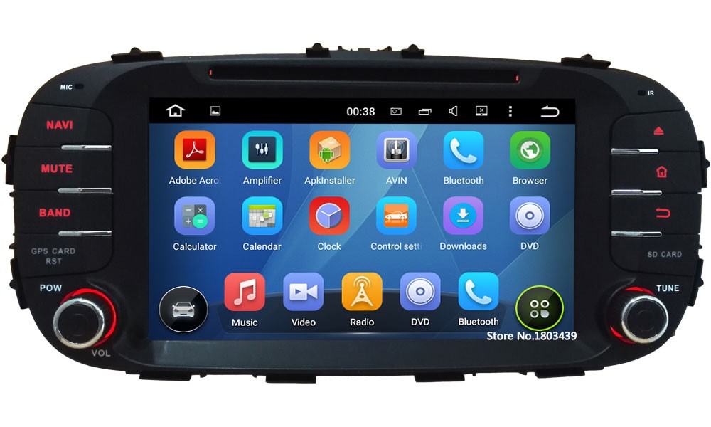 """Quad Core 8"""" HD 1024*600 2DIN Android 5.1.1 Car DVD Video Player Radio Screen BT FM DAB+ 3G/4G WIFI GPS Map For KIA SOUL 2014"""