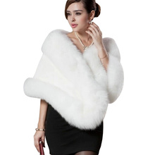 2015 New Fashion Faux Mink Fur Shawl Autumn And Winter Mink Sleeveless Fur Shawl Cape Warm Women Fur Coat Outerwear Hot Sale(China (Mainland))