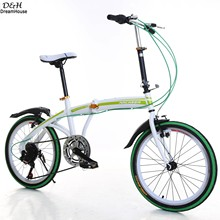 Ancheer 20 inch Portable Folding Bike 6-Speed Road Bicycle Cycling Adult Ladies Bicycles Green 2016 New Fashion(China (Mainland))