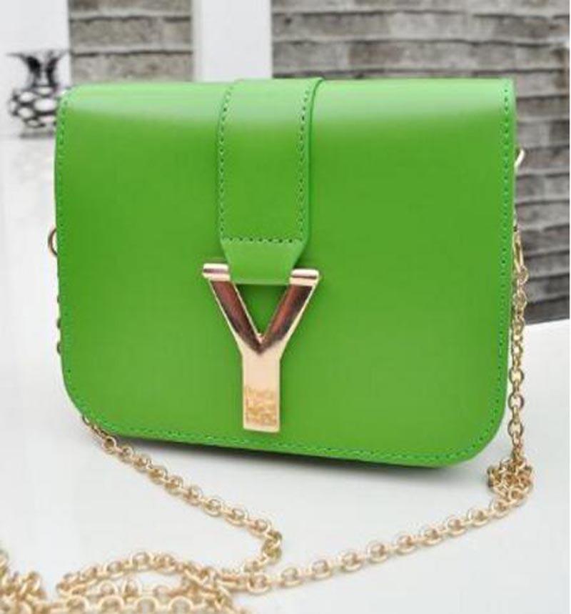 Bright Beautiful Women Leather Handbags Women Messenger Cheap Good Use Shoulder Bags Korean Fashion Women Bag Luxury Brand Chain(China (Mainland))