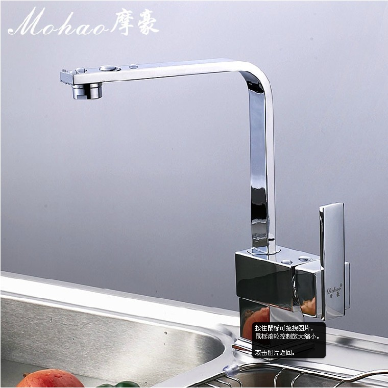 Bathroom copper hot and cold taps sink single hole basin hot and cold