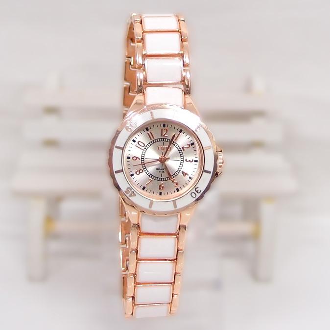 News Sale High Quality Rose Gold Tone watch women female rhinestone dress Quartz Wrist Watch TW024(China (Mainland))