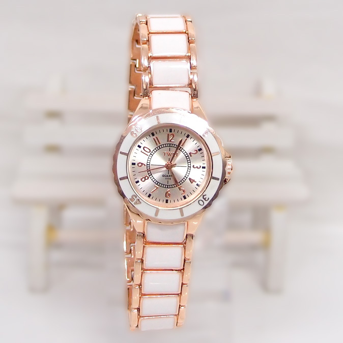 News Sale High Quality Rose Gold Tone watch women female rhinestone dress Quartz Wrist Watch TW024(China (Mainland))