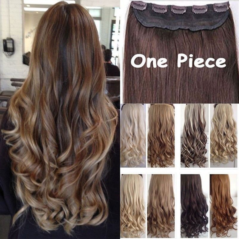 Aliexpress Com Buy Long Clip In Hair Extension Half Full