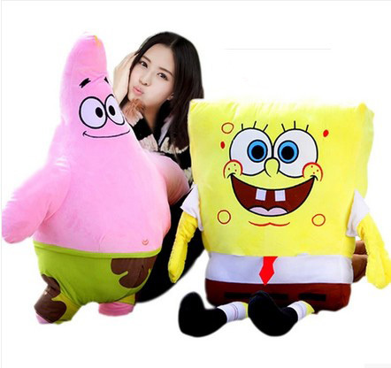Гаджет  Super Soft Plush Cover 100% PP Cotton Filling SpongeBob and Patrick 50Cm Baby Toy High Quality Toys For Children Free Shipping! None Игрушки и Хобби