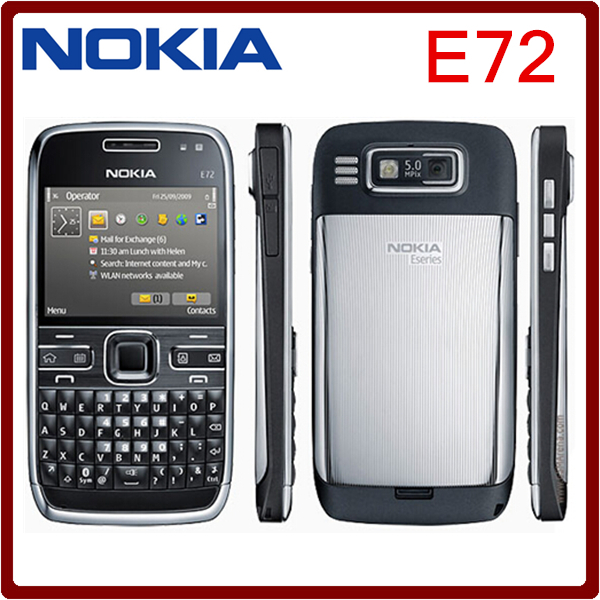 Original Nokia E72 Mobile Phone 3G Wifi 5MP Unlocked Refurbished Cellphone English Russian Arabic keyboard One year warranty(China (Mainland))