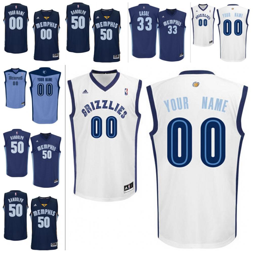 Mens Memphis Grizzlies Zach Randolph Marc Gasol custom made any name any number(China (Mainland))