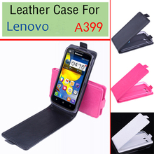 Brand New Good Quality Flip Leather Case Cover For Lenovo A399 Original Case Open Up and Down Cover In Stock + touch pen