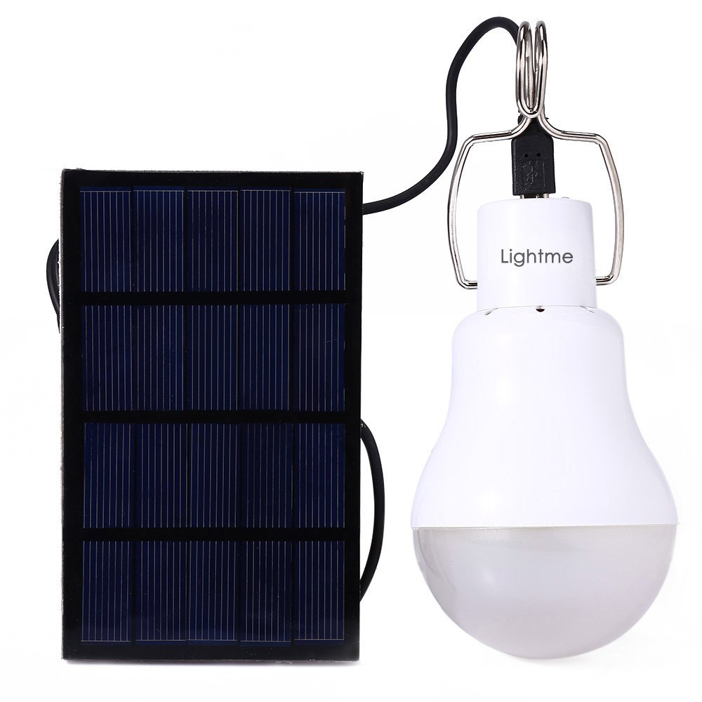 High Power Solar Garden Lamps Lightme S - 1200 15W 130LM Solar Powered LED Bulb Light Energy Lamp For Camping Cooking(China (Mainland))