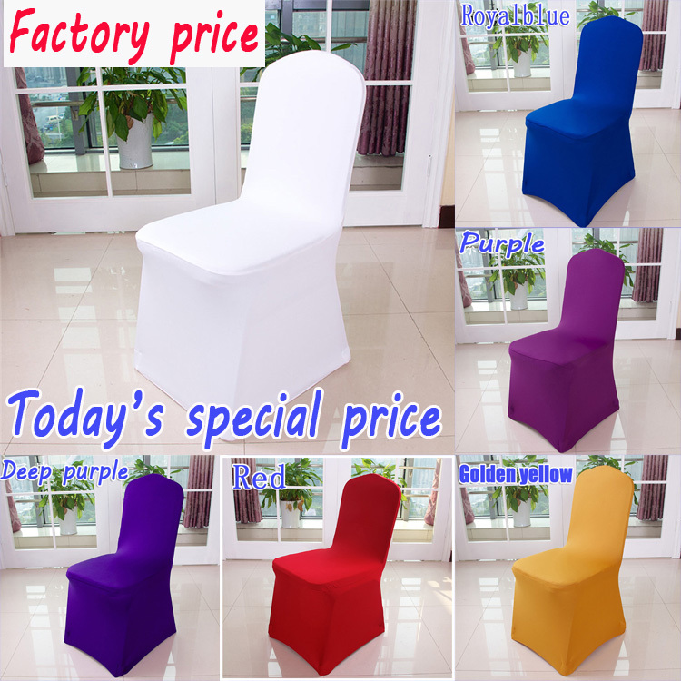 Free shipping white spandex chair cover/ banquet hotel chair cover/wedding chair cover(China (Mainland))