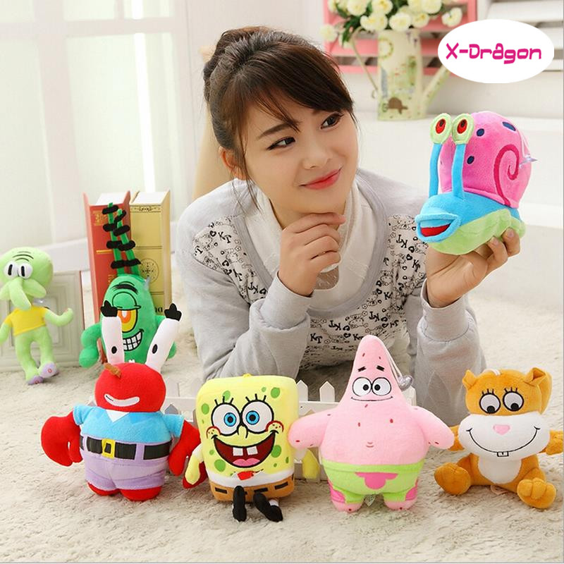 Hot selling Cute Spongebob Plush Doll Toys High Quality Patrick Star Stuffed Toy Kids Birthday Gift Hot Sale(China (Mainland))