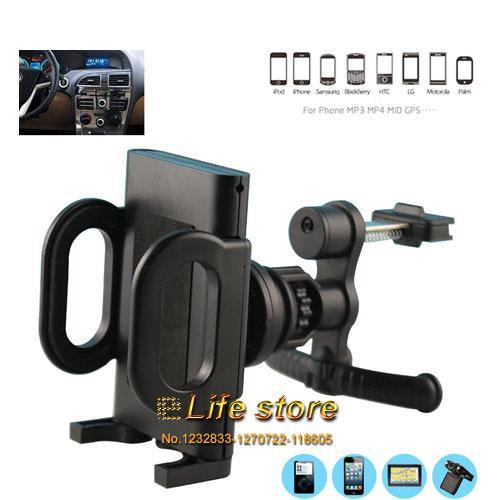 Car Holder Car Air Vent Holder Mobile Phone Holder Rotary Holder For Lenovo A6000 Plus A3900 A5000 S60 A1900 A7000 Vibe Shot(China (Mainland))