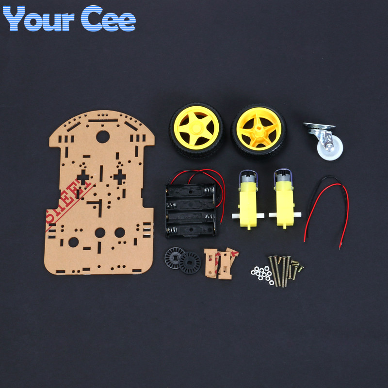 1 pcs New Motor Smart Robot Car Chassis Electronic Manufacture DIY Kit Speed Encoder Battery Box 2WD Arduino Robot