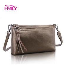 New first layer genuine leather women's shoulder bags clutch female crocodile pattern designer messenger bag ladies cowhide bag