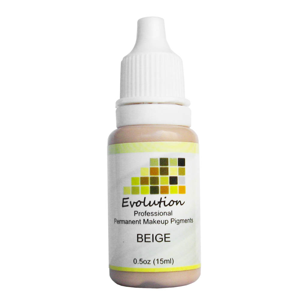 15ML BEIGE A Evelution plant extracts high intensity organic non-toxic EYEBROW tattoo micro Pigment permanent makeup ink