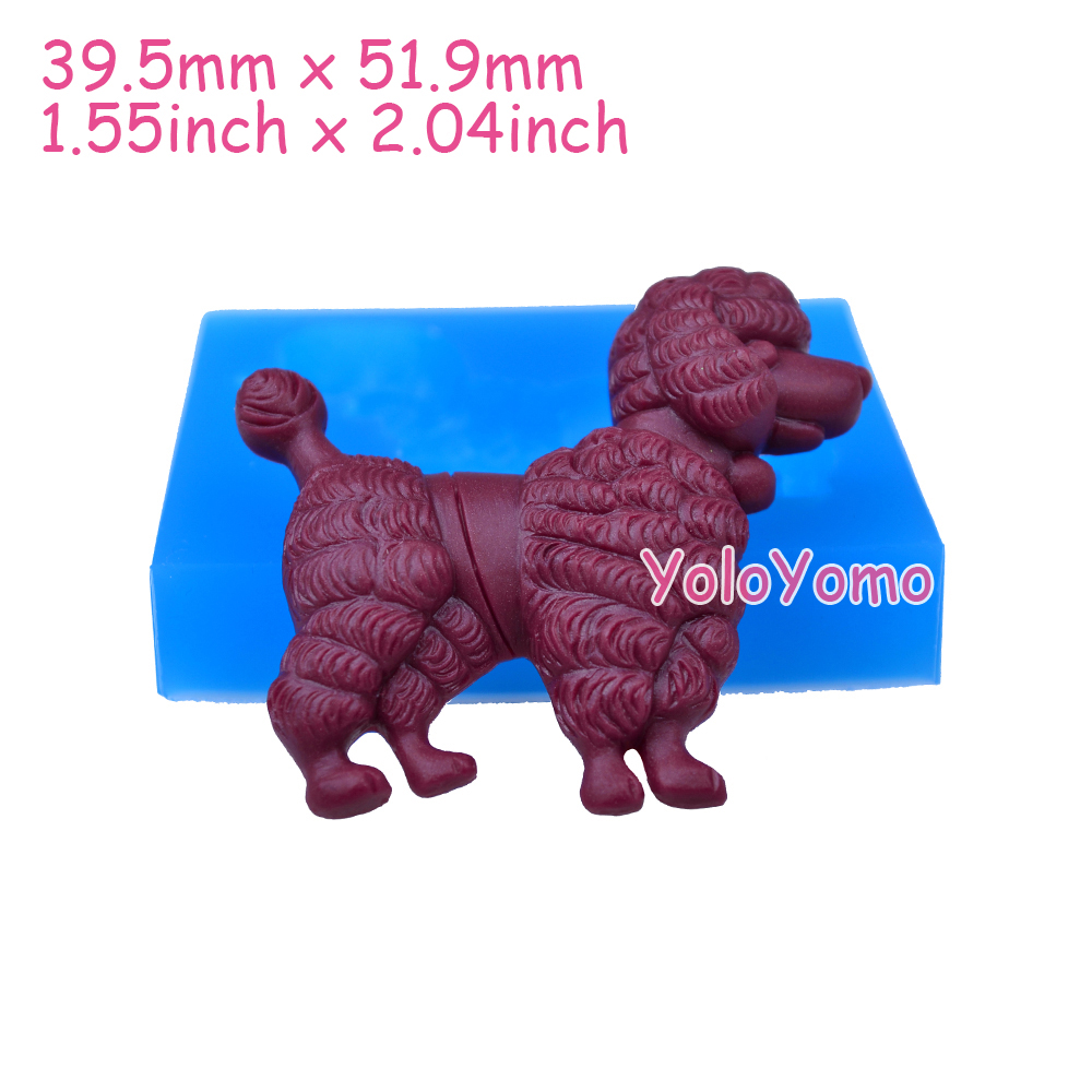 D333YL 51.9mm Big Dog Silicone Mold - FOOD SAFE Cake Decorating Fondant Chocolate Candy Resin Polymer Clay Flexible Push Mold(China (Mainland))