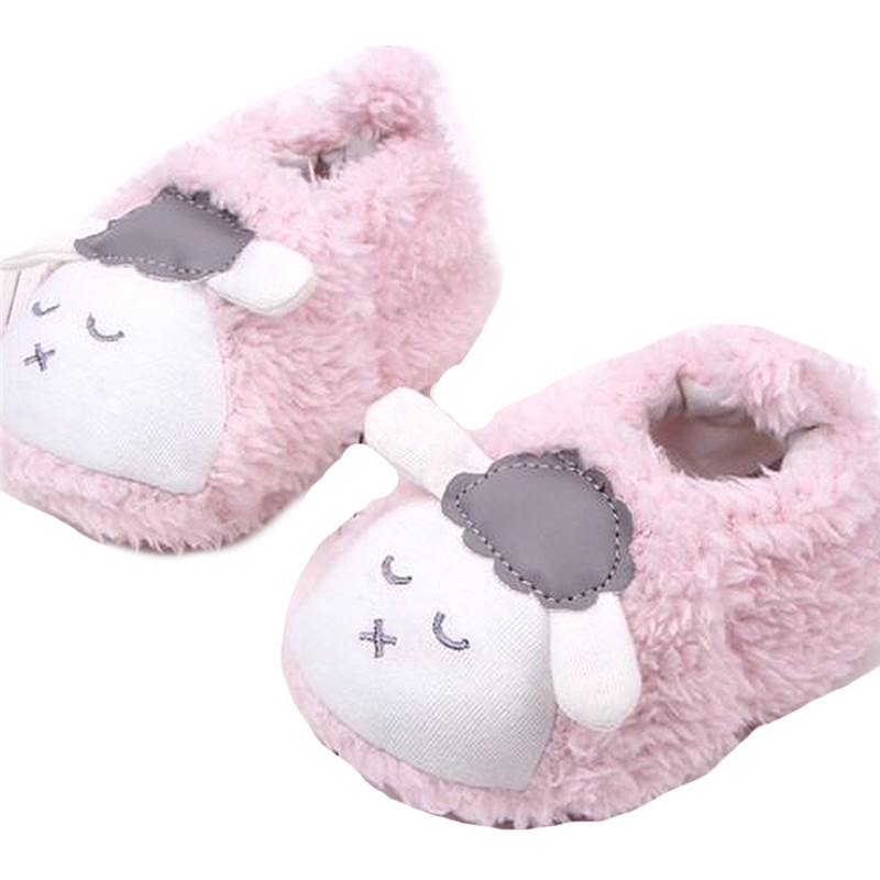 A Pair of Winter Baby Boys Girls Warm Plush Boot Infant Soft Slipper Crib Shoes Warm Soft Shoes 0 to 12 Months 083(China (Mainland))