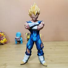 Cor Super Saiyan Vegeta Dragon Ball Em Quadrinhos Personalidade Art Craft Decoração 11 Polegadas Action Figure Collectible Modelo Toy Z119(China)