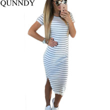Wholesale Women Summer Long Maxi Dresses 2016 Fashion Girl Casual Stripe Beach Dress Short Sleeve Sexy Sundress Vestidos(China (Mainland))