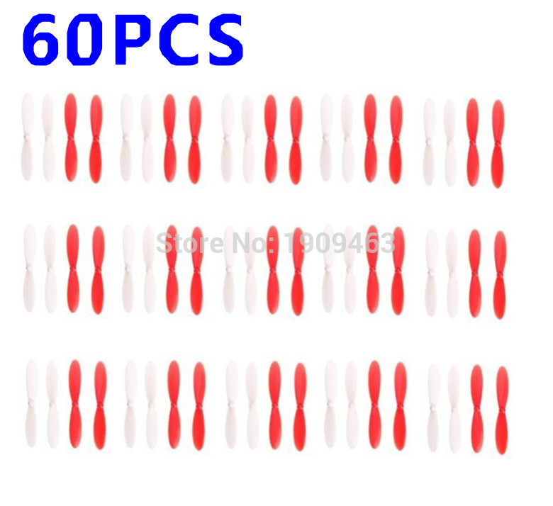 60pcs Hubsan X4 Quadcopter H107 H107L H107C-A35 H107D X4 Quadcopter Propellers H107-A02 H108 H108C blade ,propellers (wholesale)
