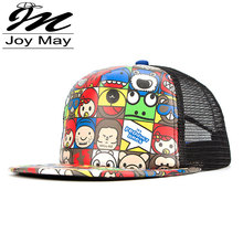 2016 new summer style hip hop mesh snapback hat hiphop street dancing Children cap for boy and girl unisex face print HAT X119(China (Mainland))